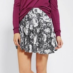 UO Pins and Needles Digital Pop Floral Skirt